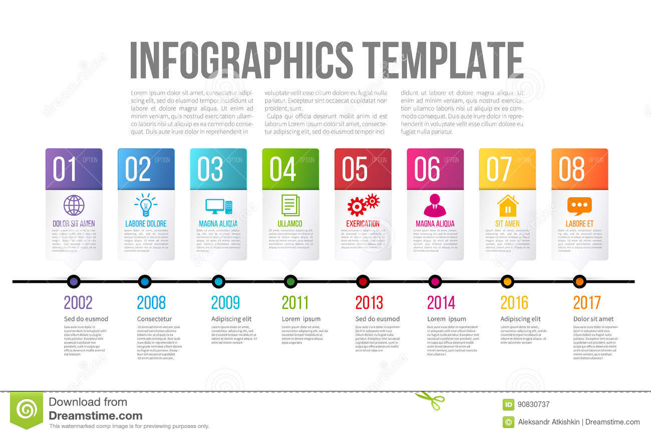 Word template for infographic