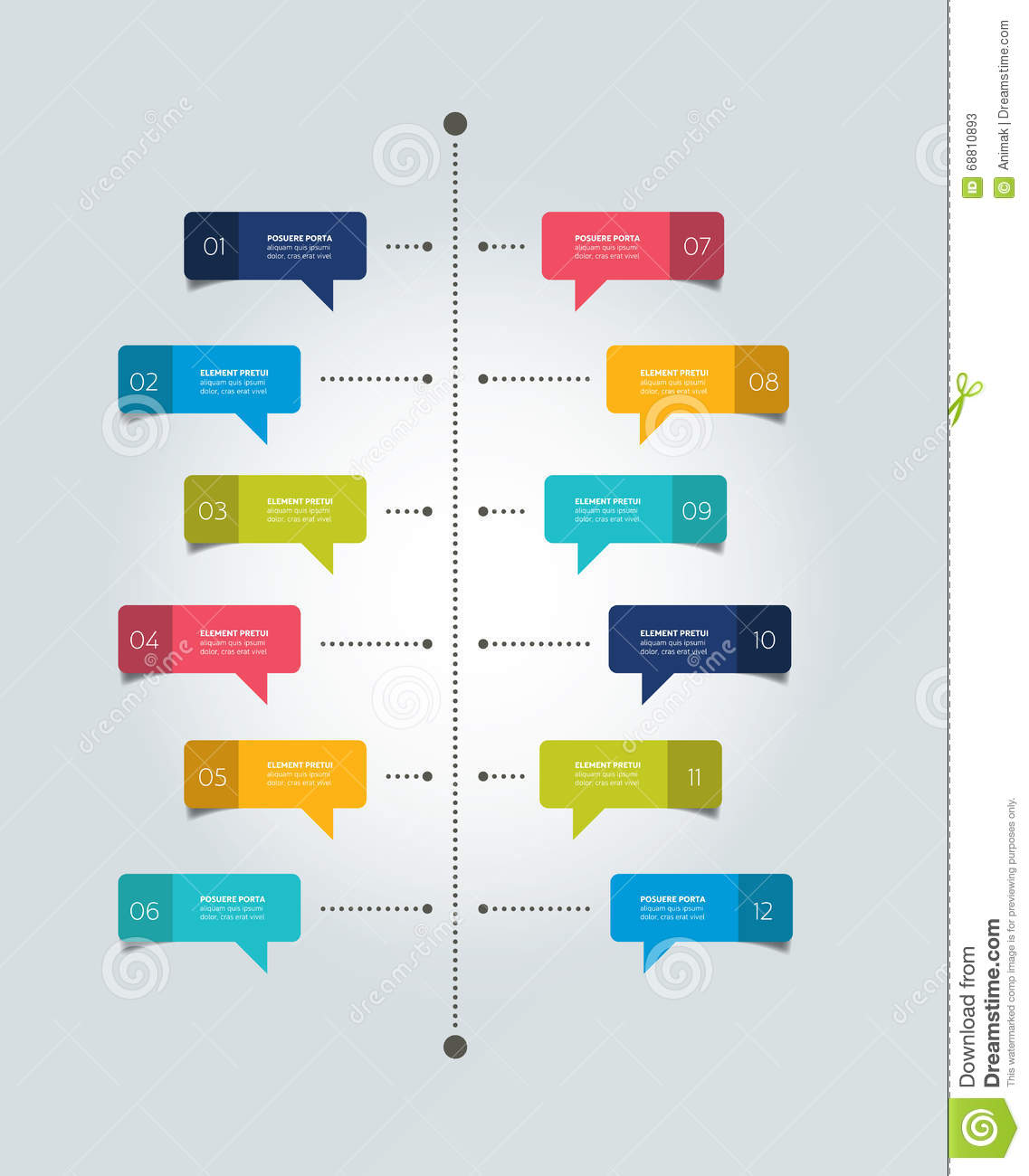 Timeline report template color shadow scheme diagram stock timeline report template color shadow scheme diagram business line pooptronica Images
