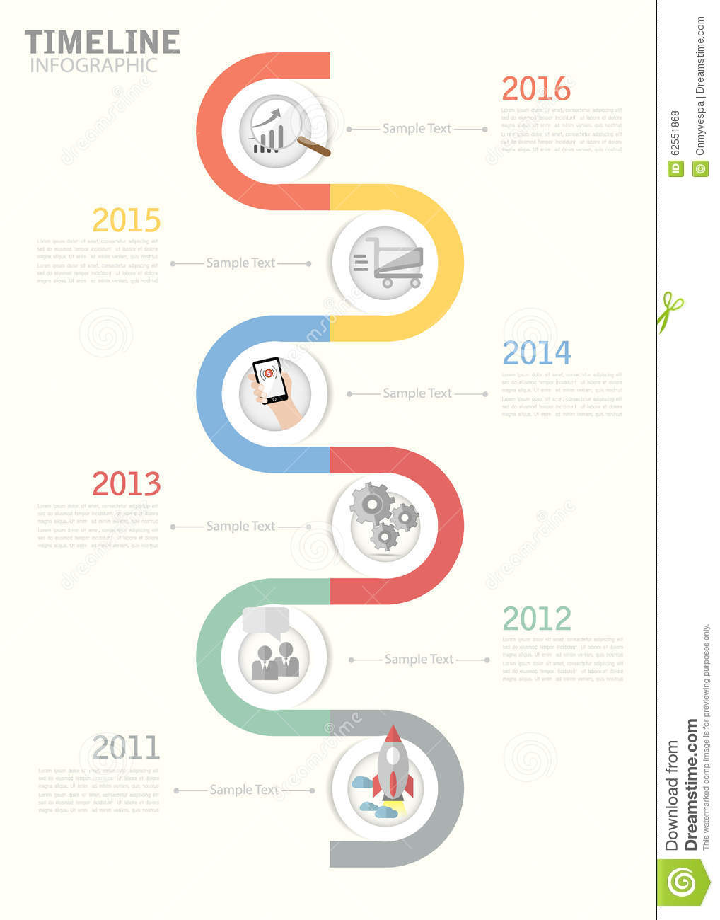 Timeline template for business design reports step presentation timeline template for business design reports step presentation illustration 62551868 megapixl accmission Images
