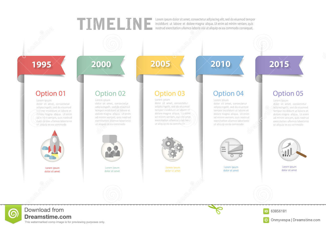 Timeline Template, Can Be Used For Workflow Layout, Diagram Stock ...