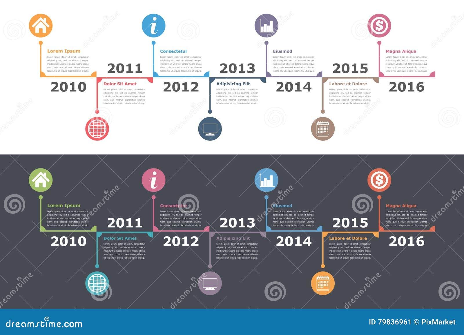 Timeline    Template    stock vector Illustration of design  79836961