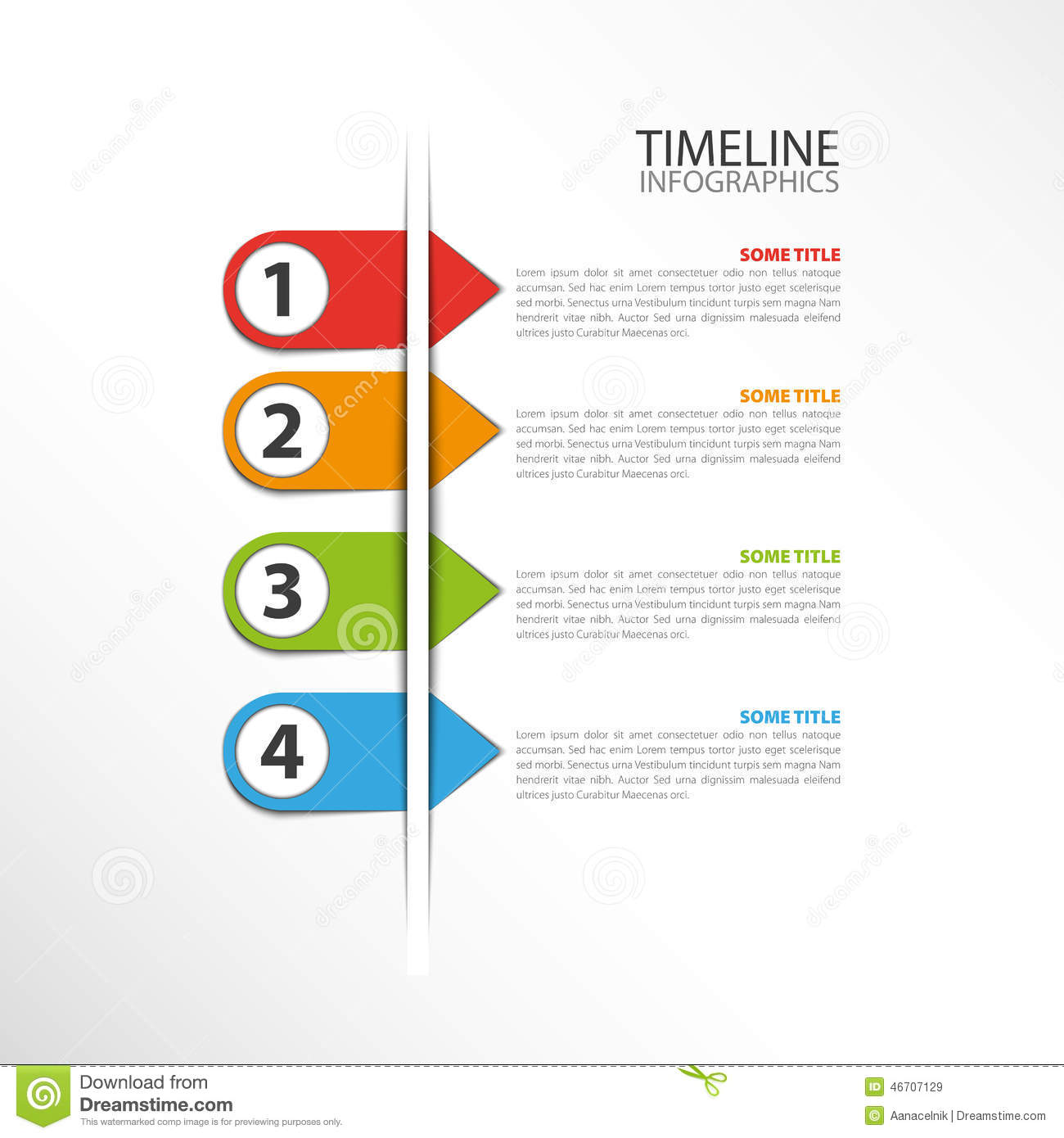 timeline template stock vector illustration of boxes 46707129