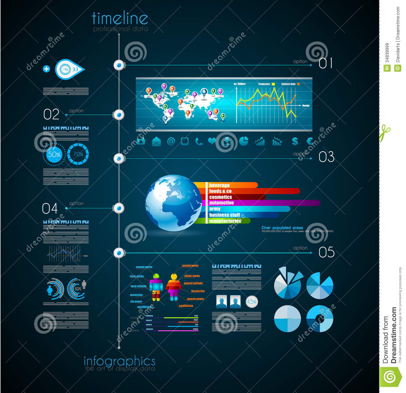 Timeline To Display Your Data With Infographic Royalty Free Stock ...