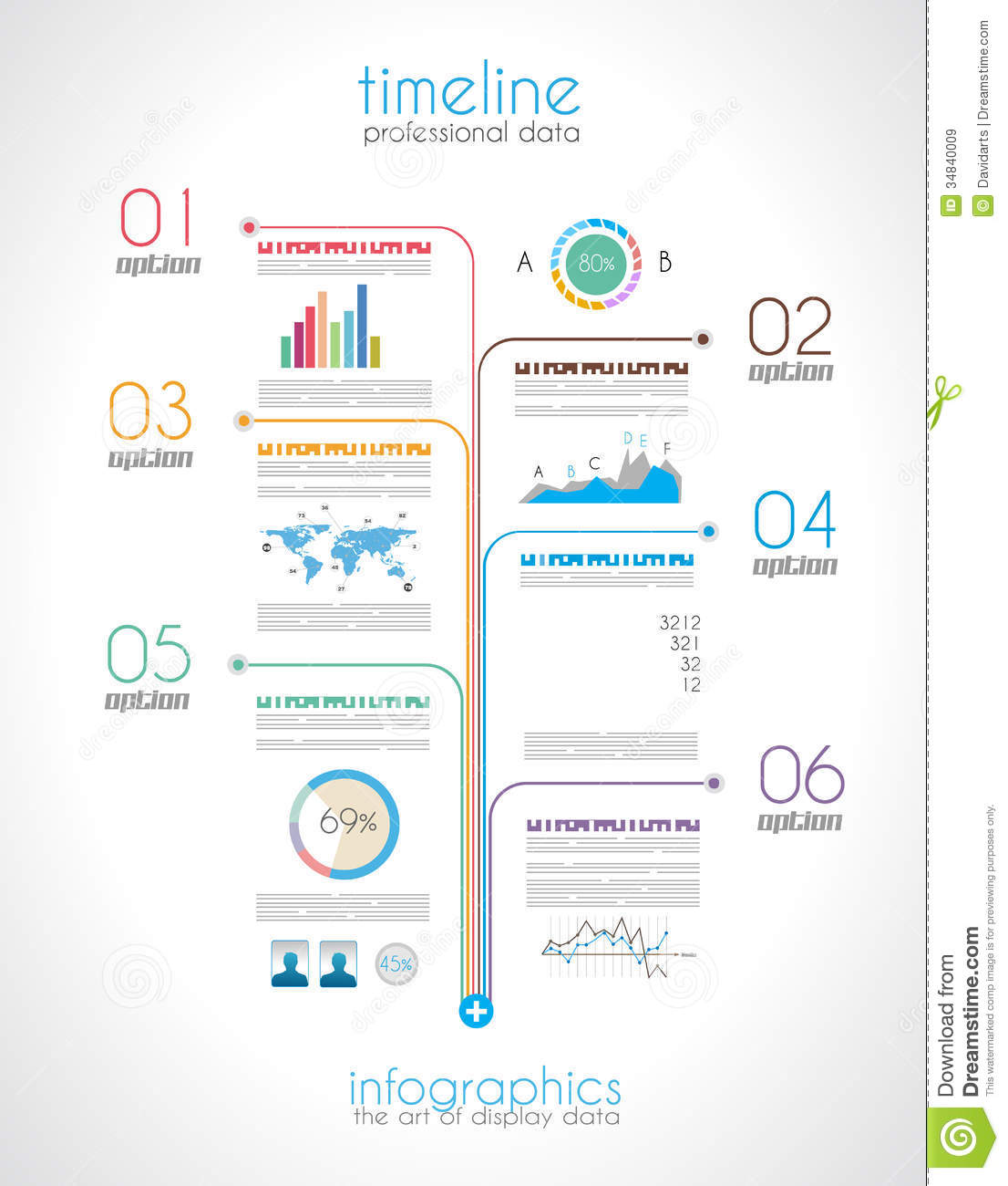 Timeline To Display Your Data With Infographic Stock Vector - Free timeline infographic template