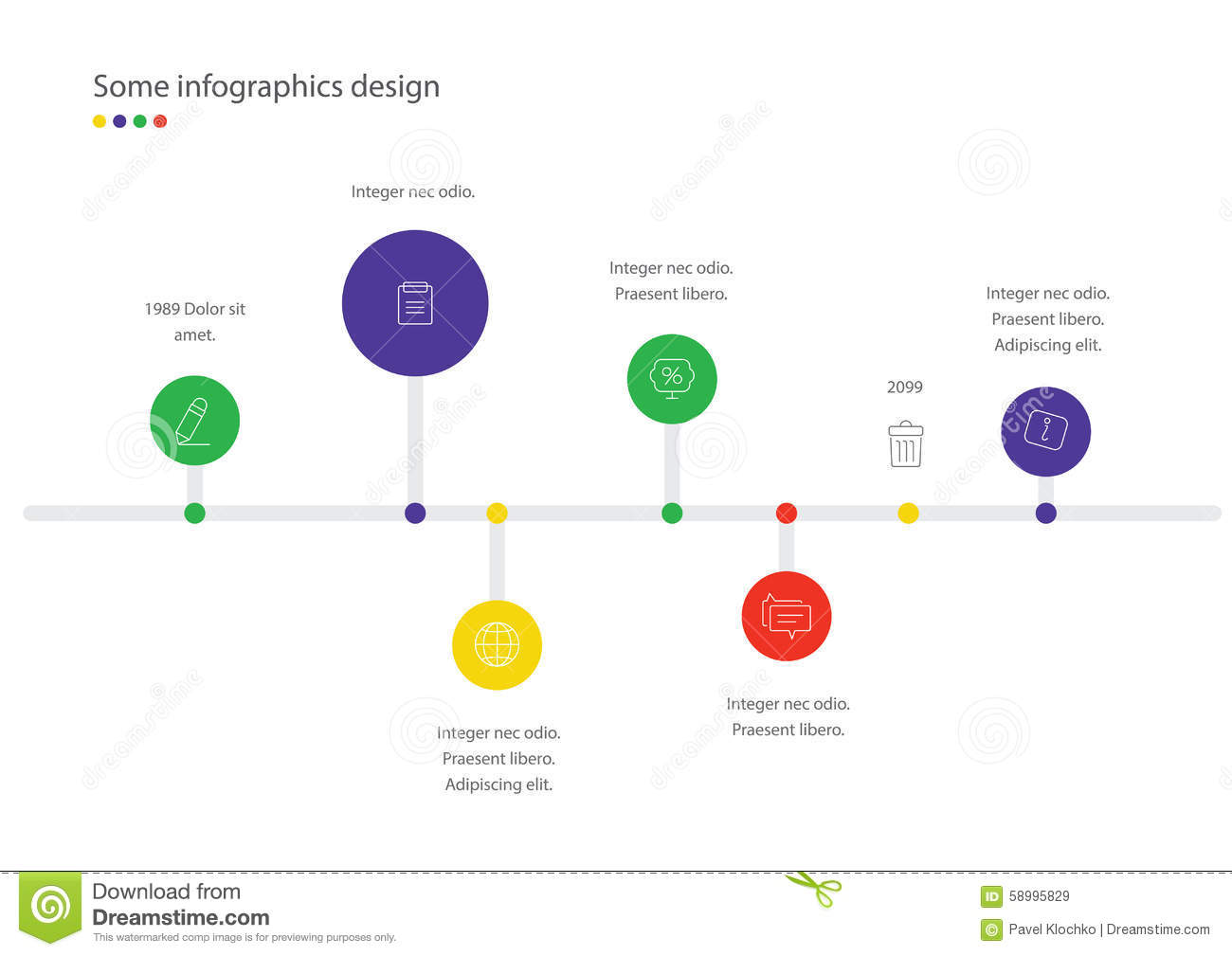 timeline vector infographic. minimalistic design template. useful, Powerpoint templates