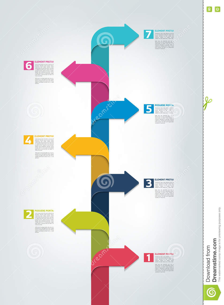 timeline vertical report  template  chart  scheme  step by