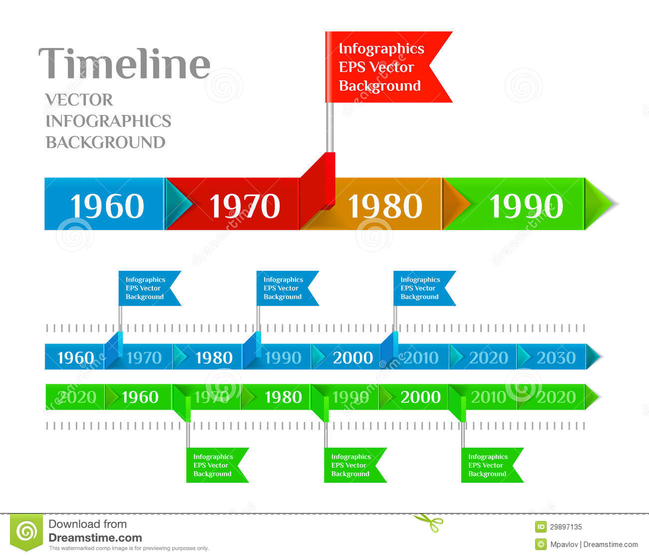 Timeline Web Element Template Royalty Free Stock Photo