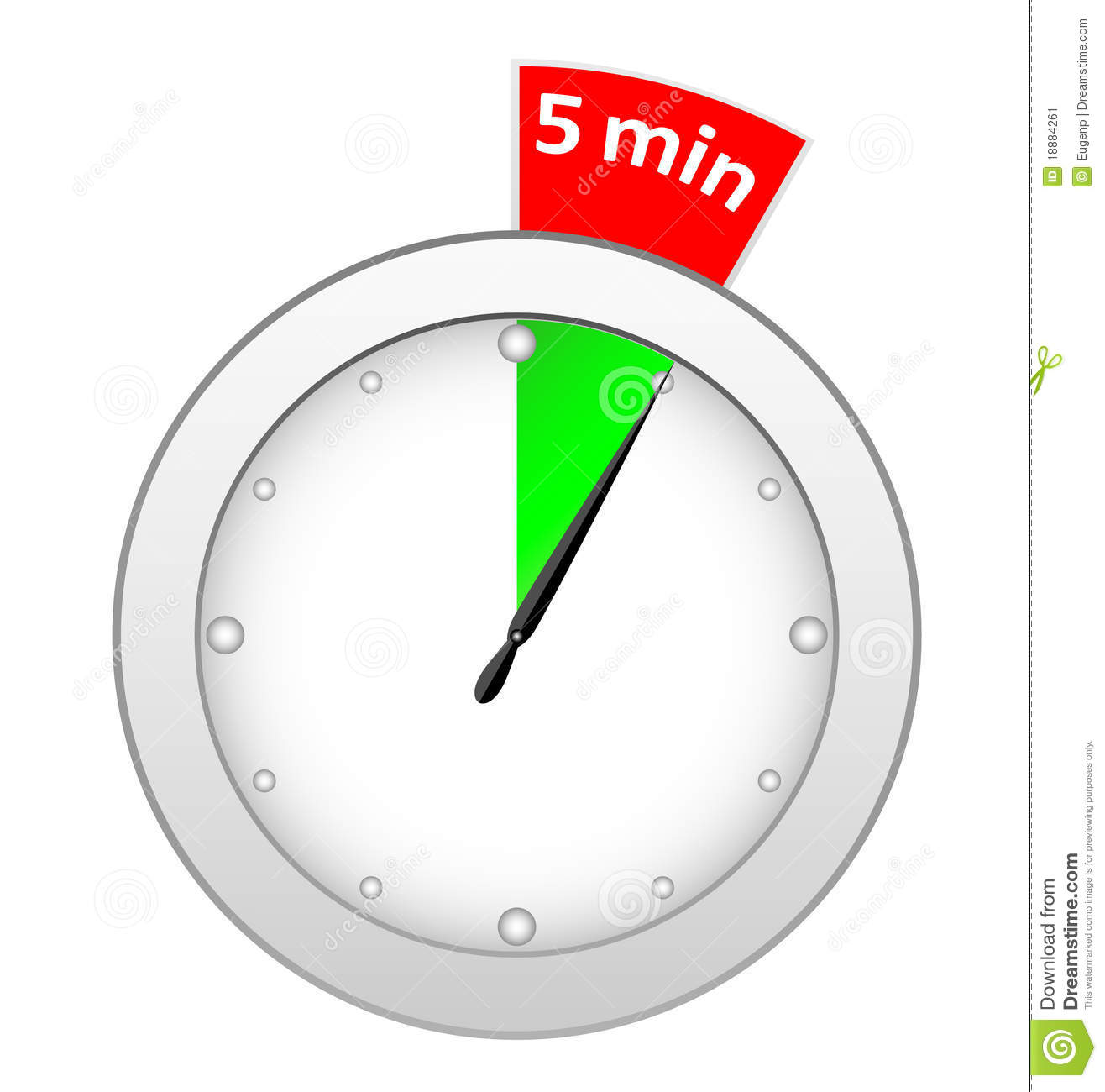 Timer 5 minutes stock vector illustration of arrow interval 18884261 - Minuteur 5 minutes ...