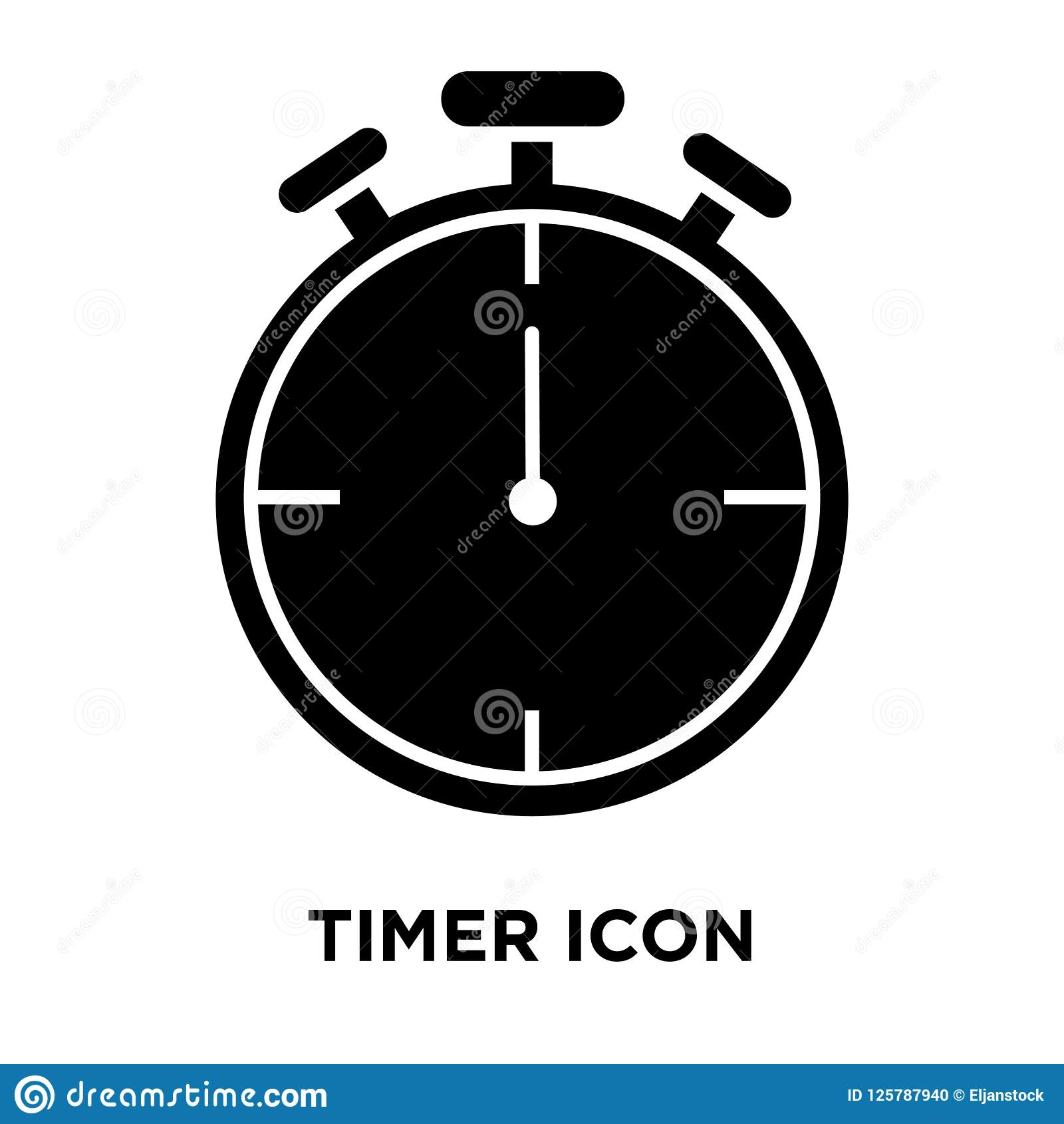Timer Icon Vector Isolated On White Background, Logo Concept