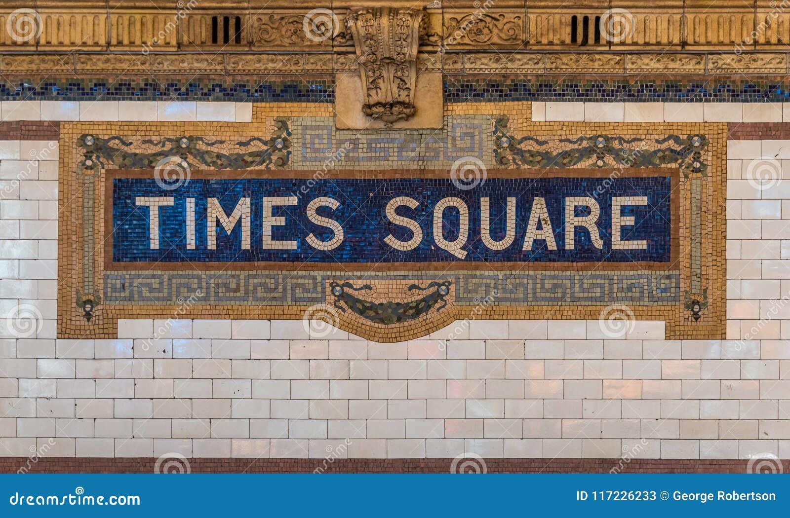 The Times kwadrata znak na NYC metra systemu