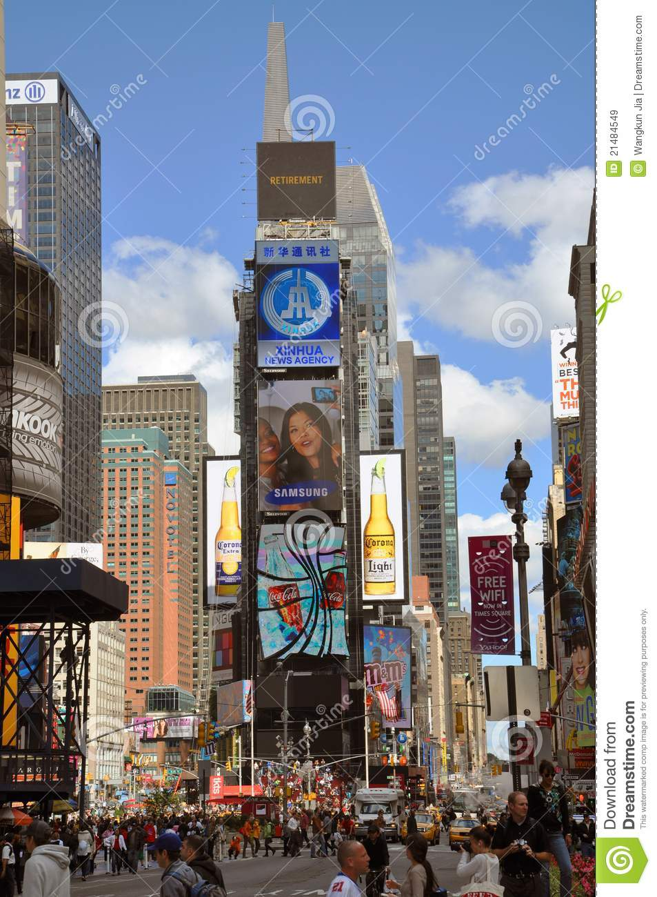 Times Square in 2011, New York City