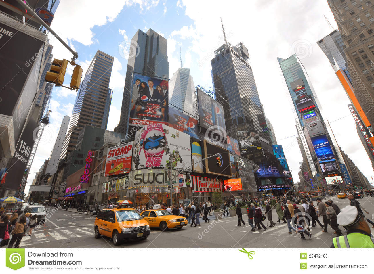 Times Square 7th Ave New York City Editorial Image