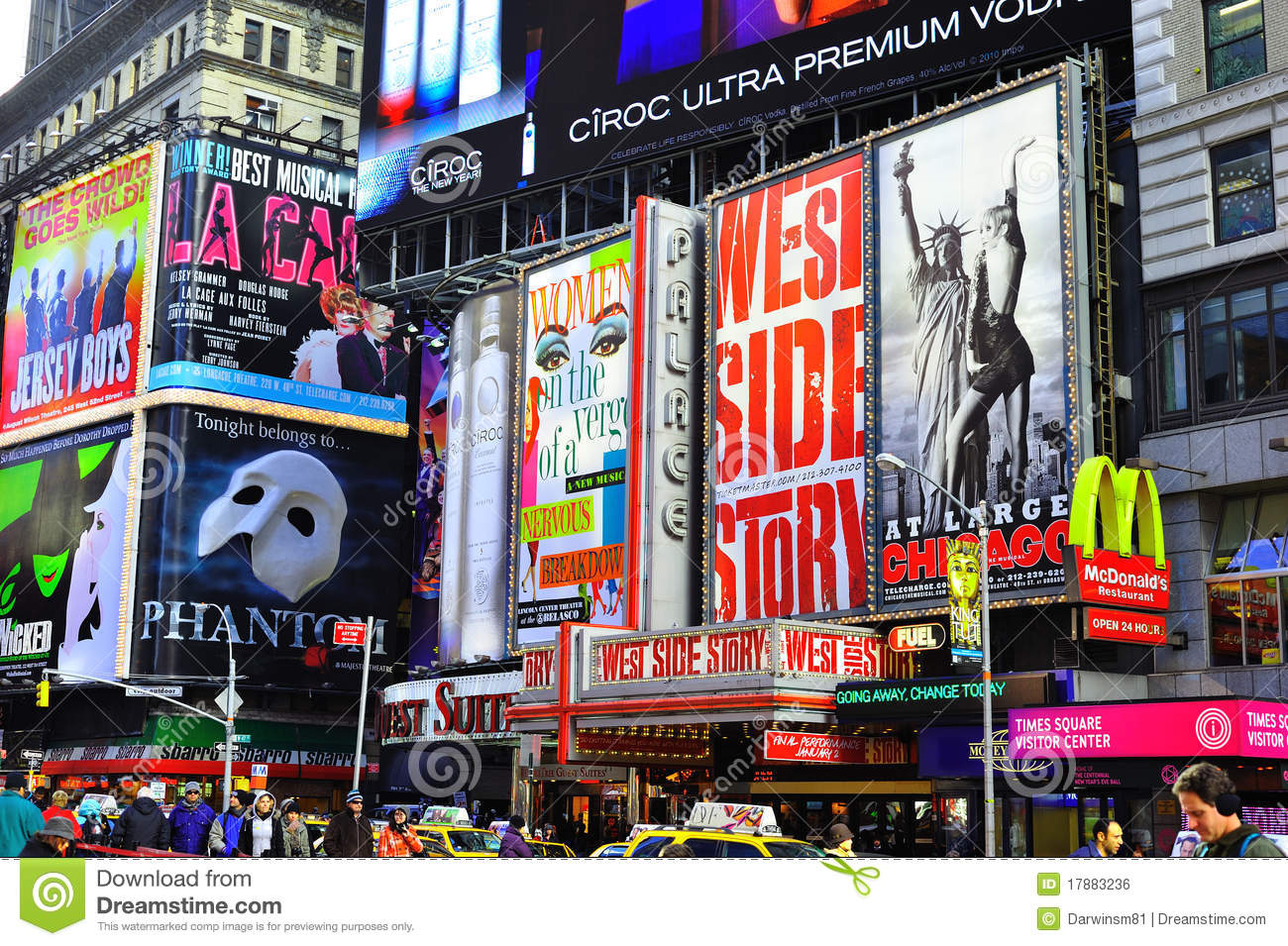 Times Square Billboards Editorial Photo Image 17883236