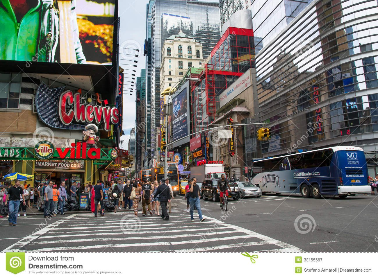 Times Square Daytime Editorial Photography Image 33155667