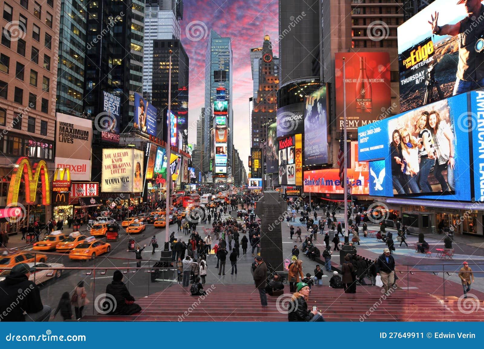 Times Square, de Stad van New York