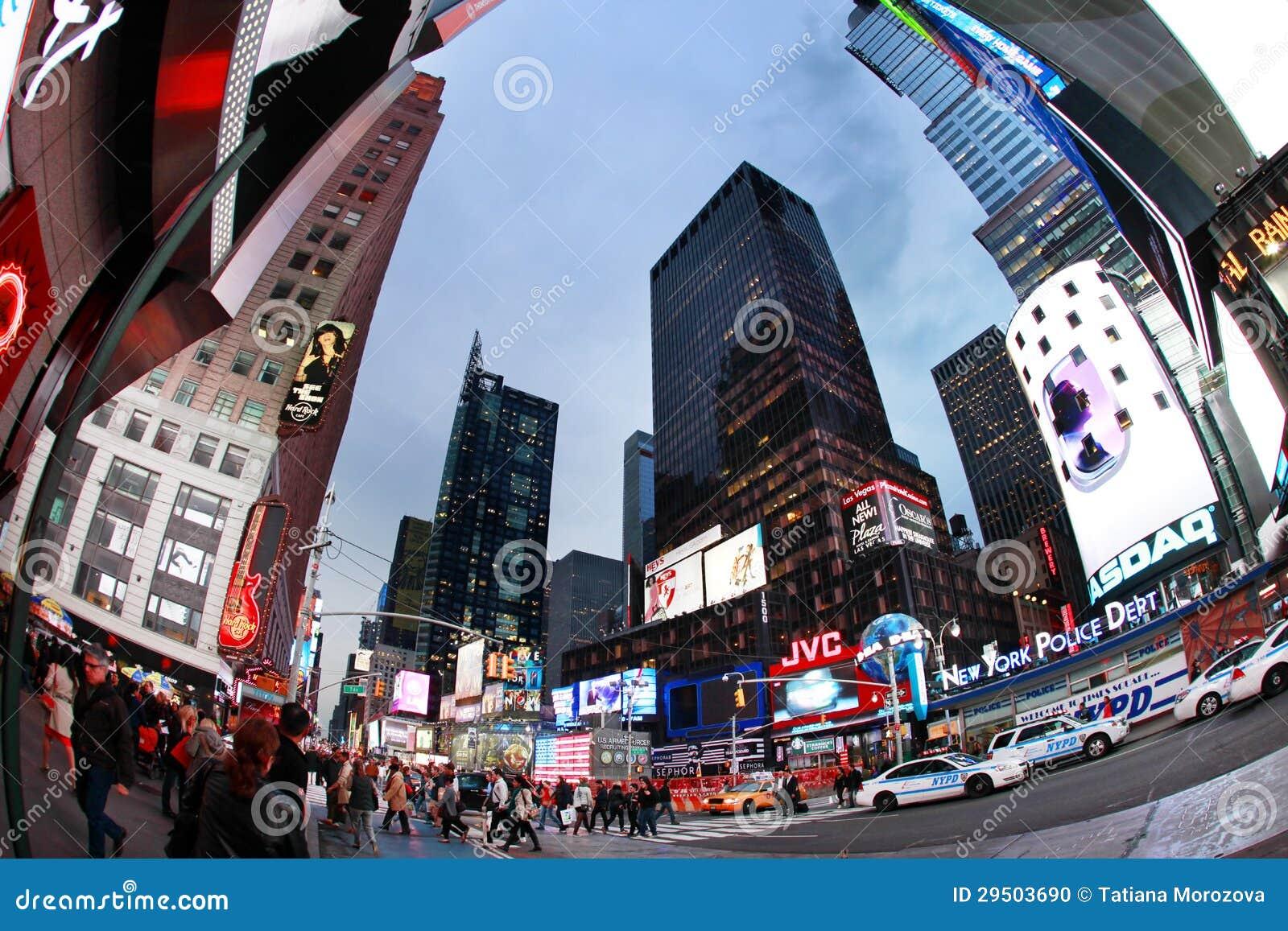 Times Square. De Stad van New York