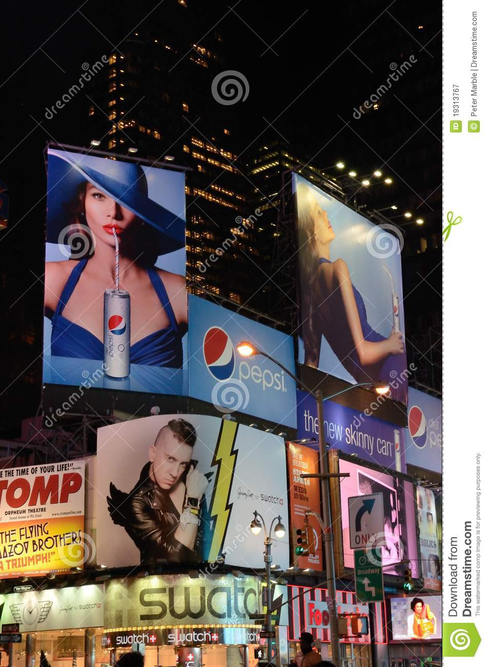 Times Square electronic billboards