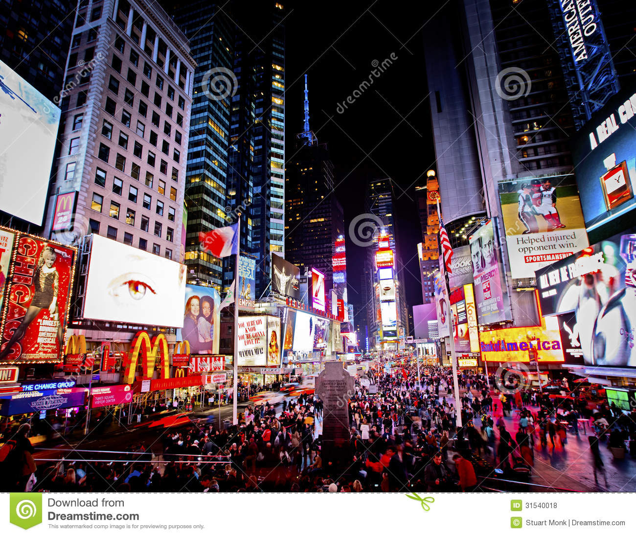 Times Square Editorial Stock Photo