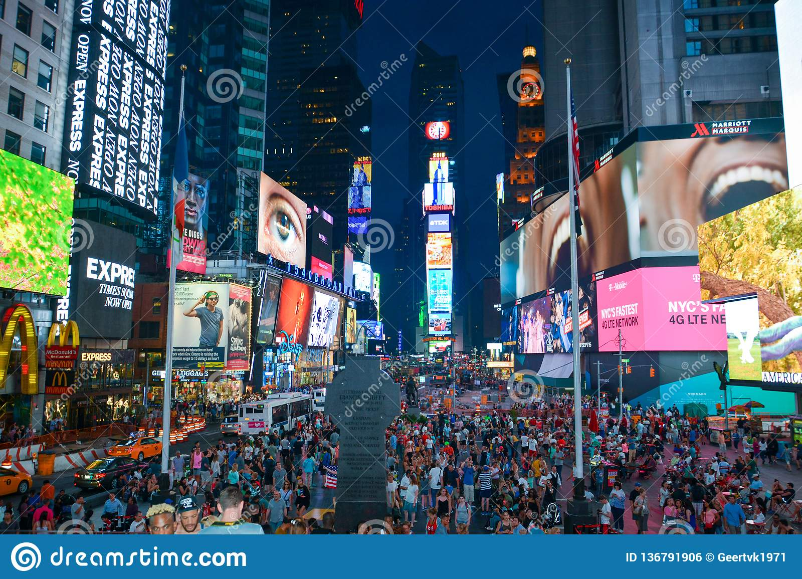 Times Square new york taken from Duffy Square