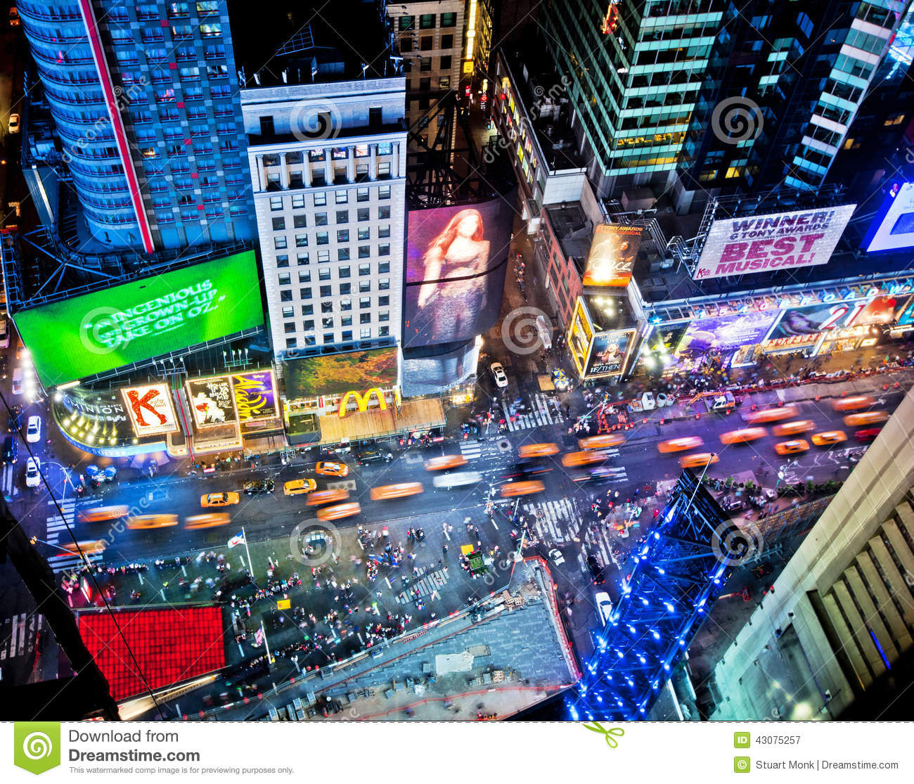 Times Square Editorial Photography. Image Of Buildings