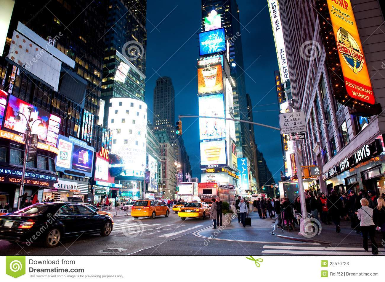 times square by night editorial stock photo image 22570723. Black Bedroom Furniture Sets. Home Design Ideas