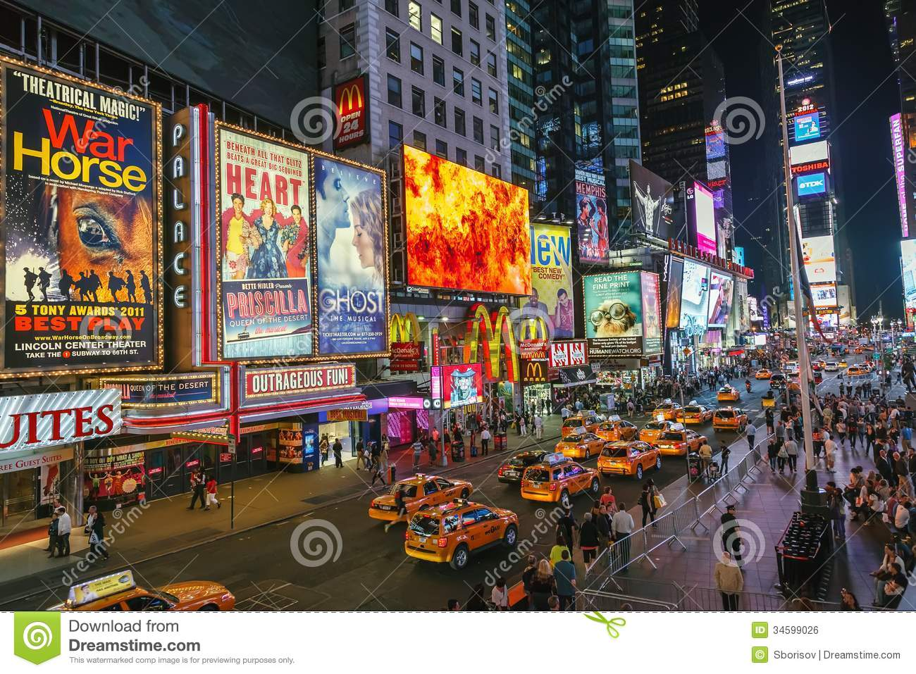Times square at night editorial photo image of neon 34599026 - Tourist office new york city ...