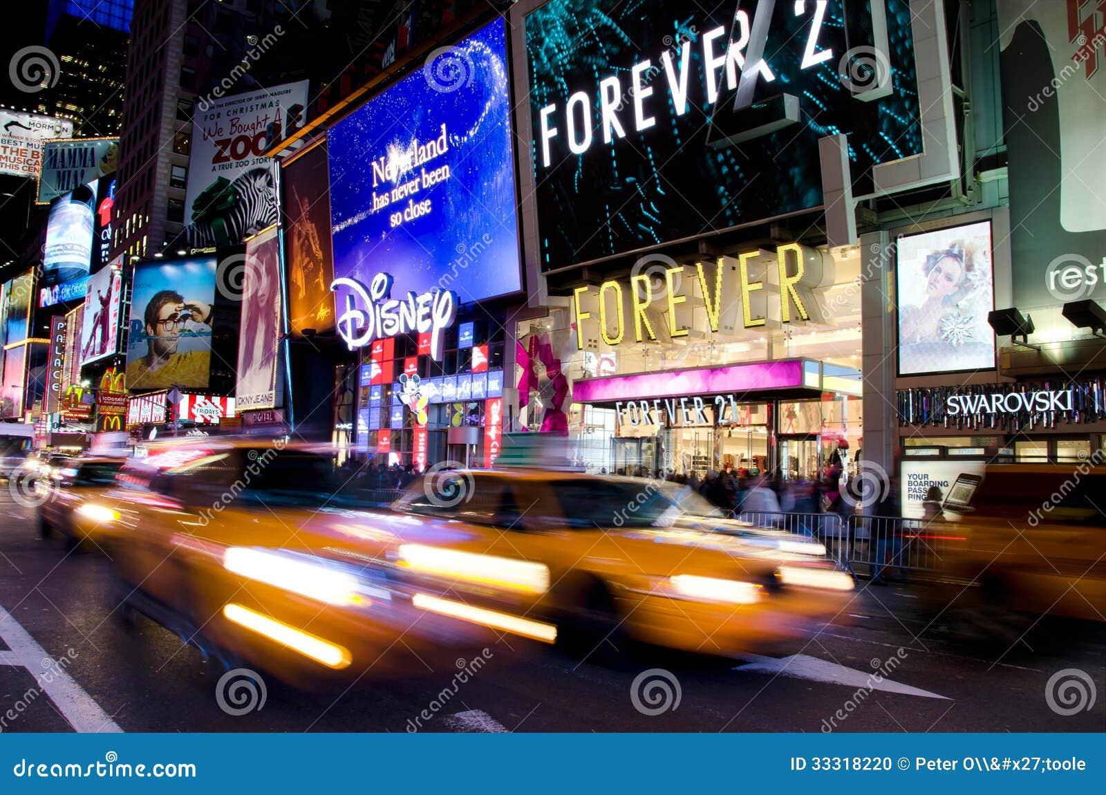 Times Square, Nueva York en la noche