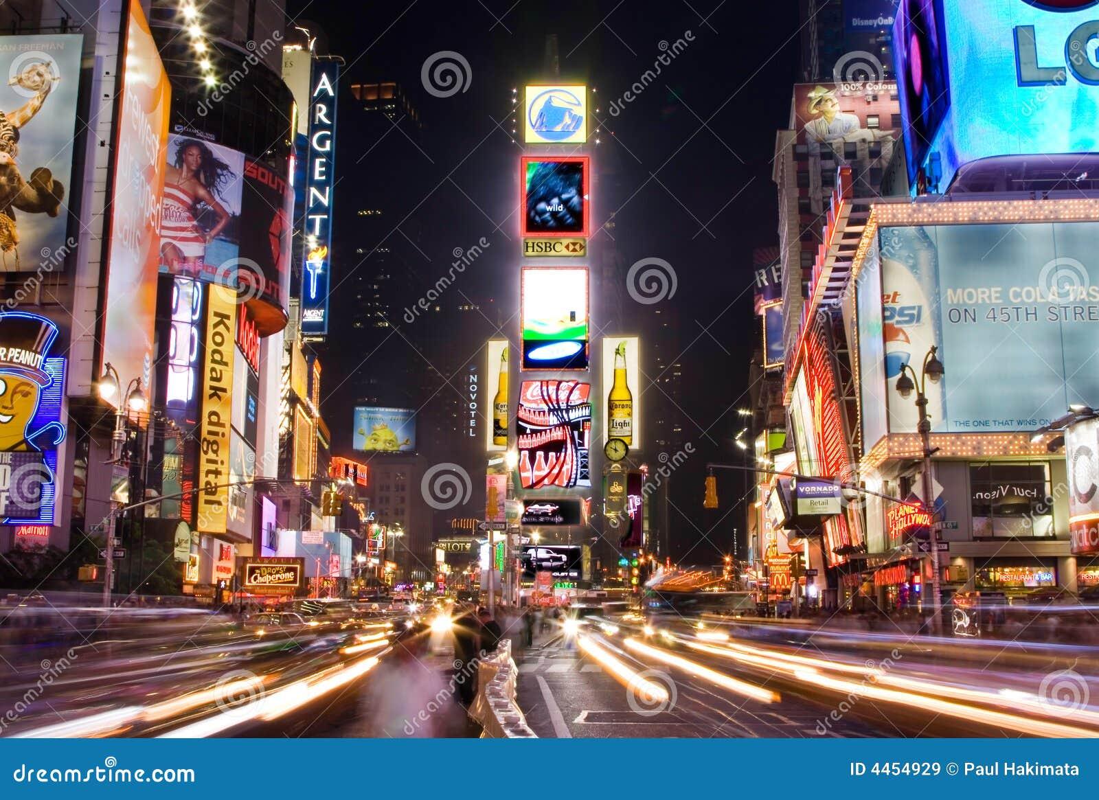 Times Square par nuit