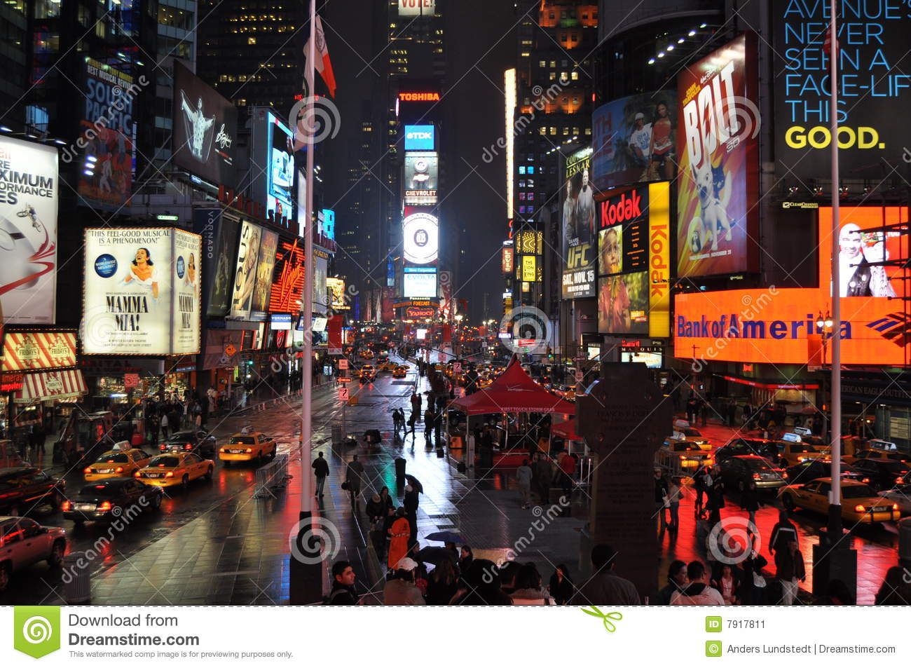 Times Square regnerisch