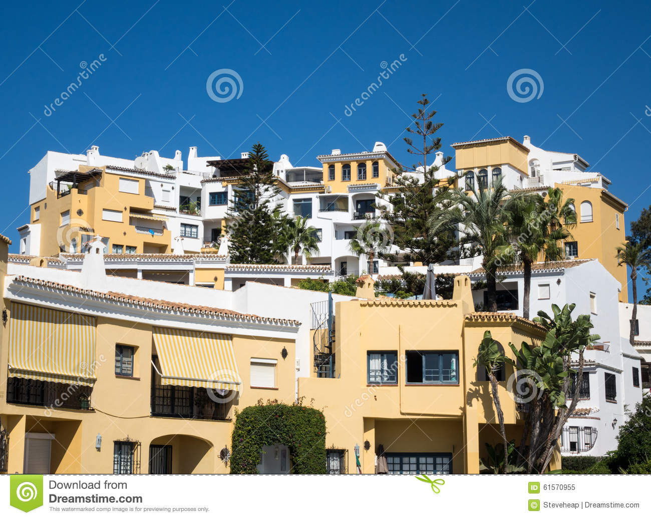 Timeshares And Apartments In Marbella Spain Stock Image ...