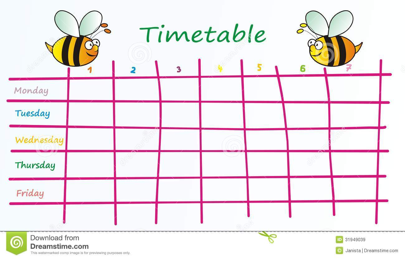 Timetable Stock Illustrations 8419 Timetable Stock Illustrations