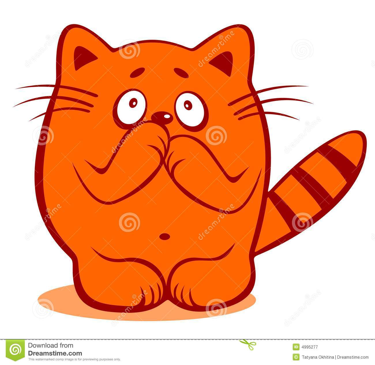Timid Cat Royalty Free Stock Photography Image 4995277