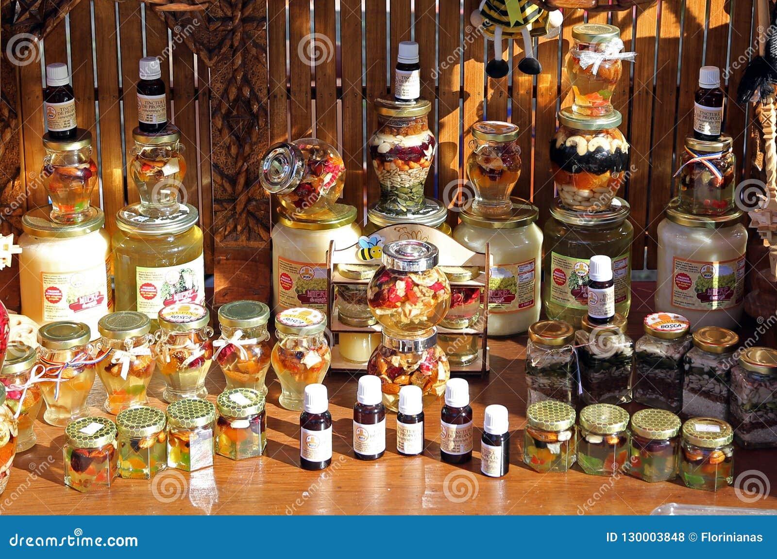 TIMISOARA, ROMANIA-10 14 2018 Various Assortments Of Bee