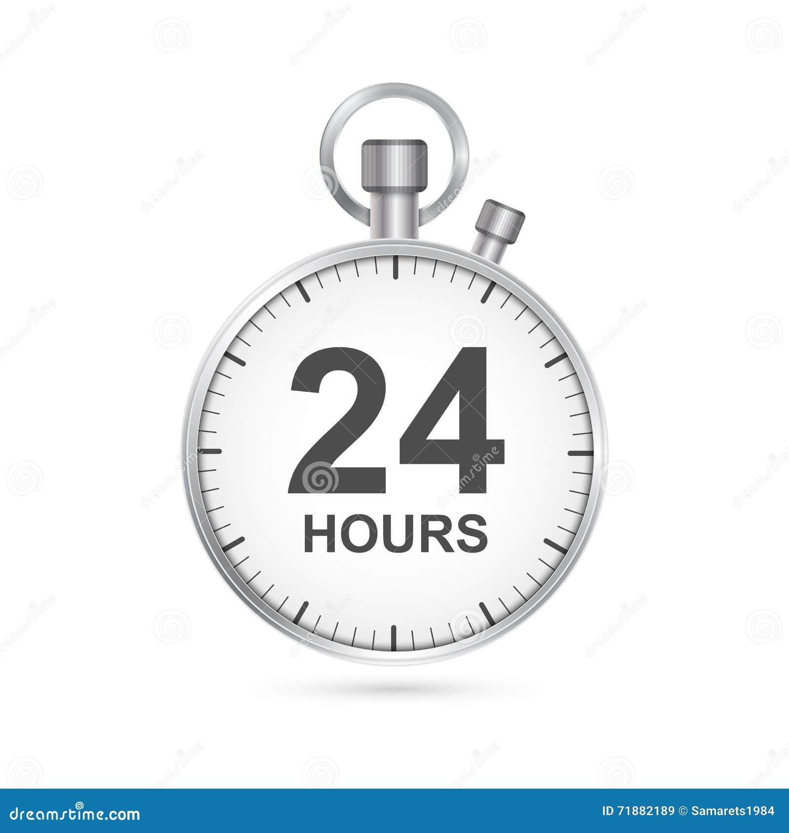 24 timmar kundtjänstsymbol