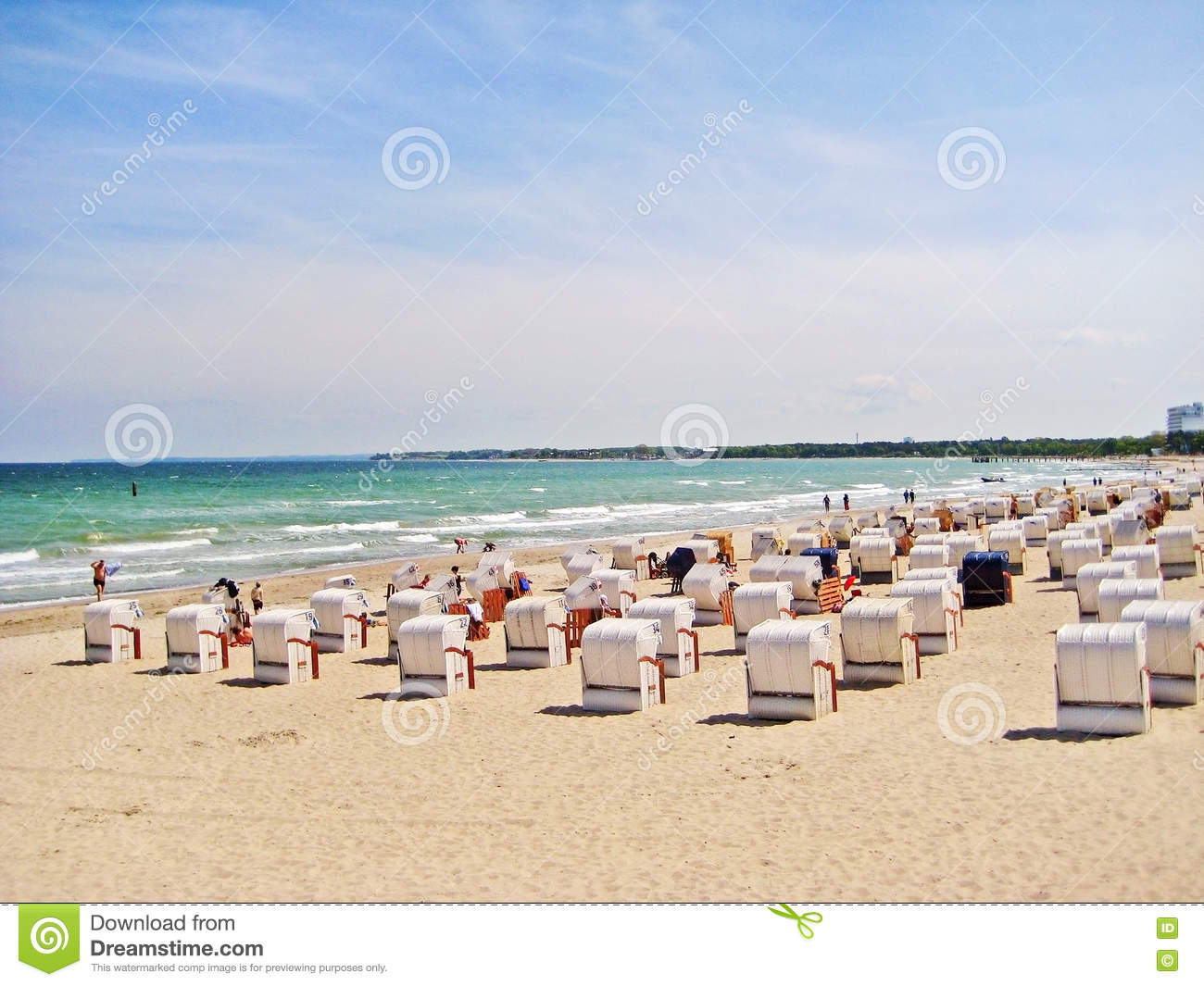 Timmendorfer Strand Germany  city images : Strand, Germany May 23, 2008: View over beach of Timmendorfer Strand ...