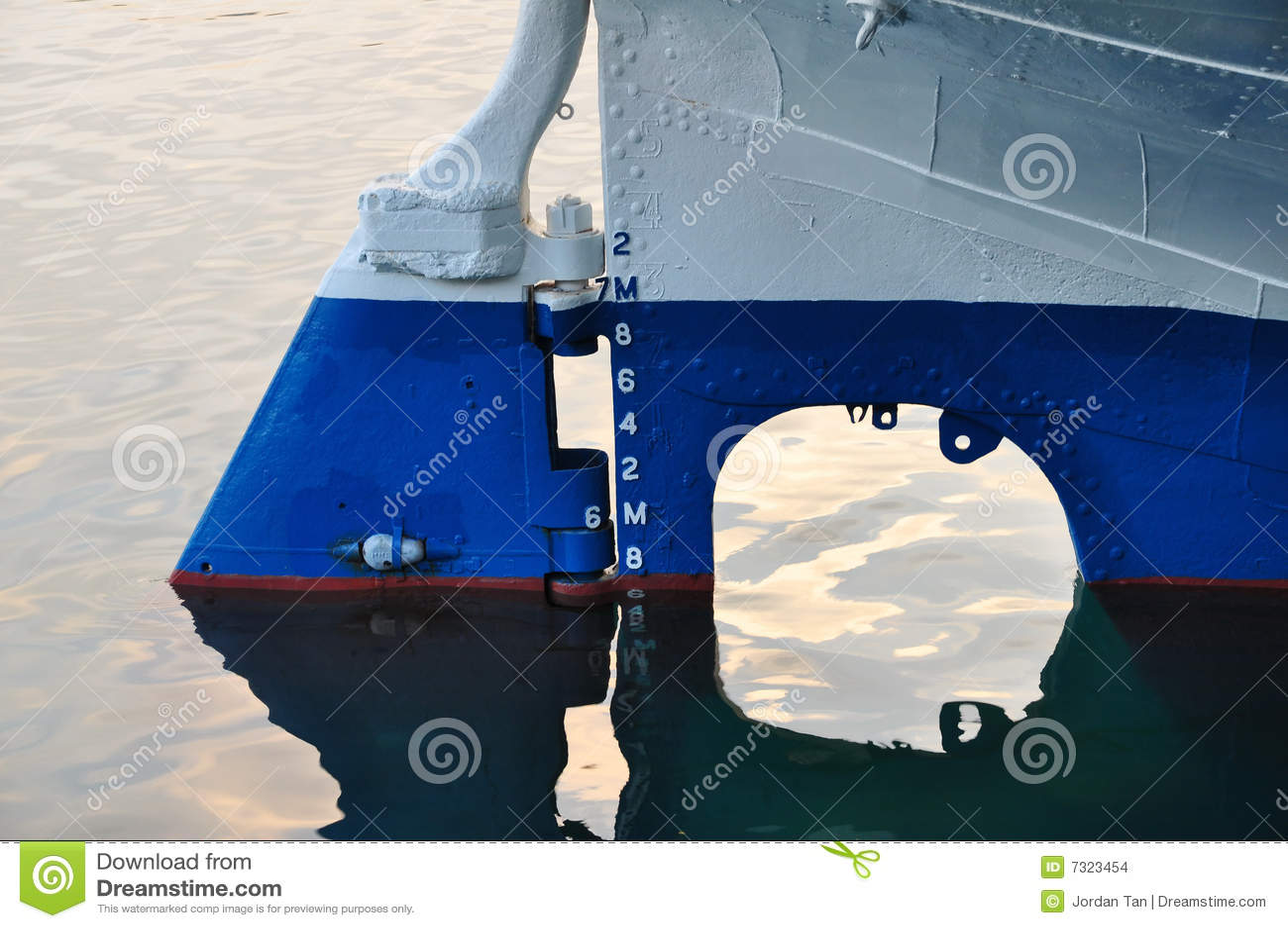 Timone e marcatura della nave