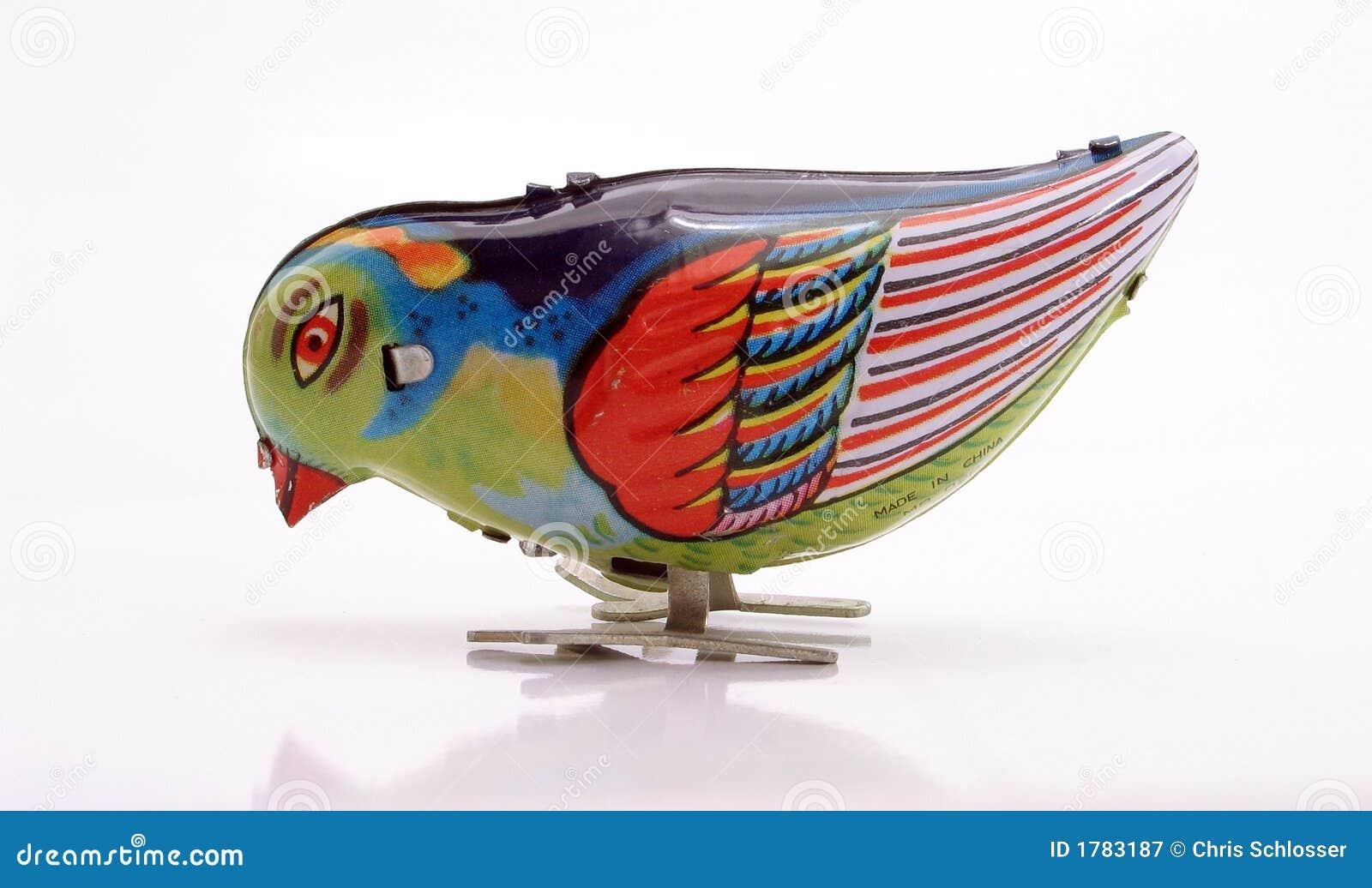 Tin blåa picka serier för fågel toyen