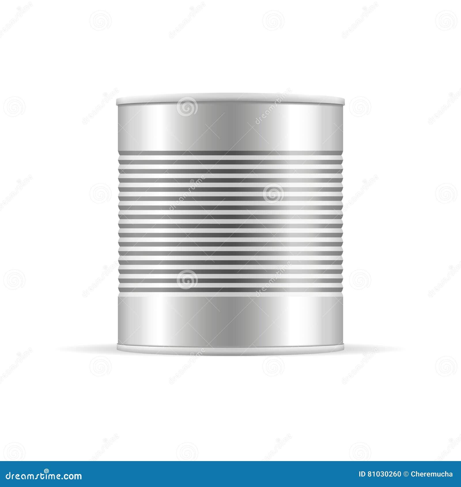 Tin Can à nervures Maquette d emballage de vecteur pour votre conception