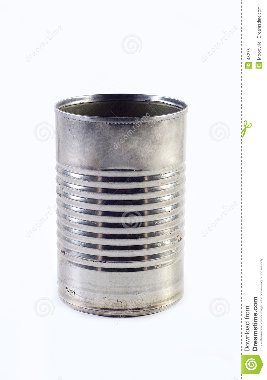 Empty Tin Can Stock Photography: Tin Can Royalty Free Stock Image