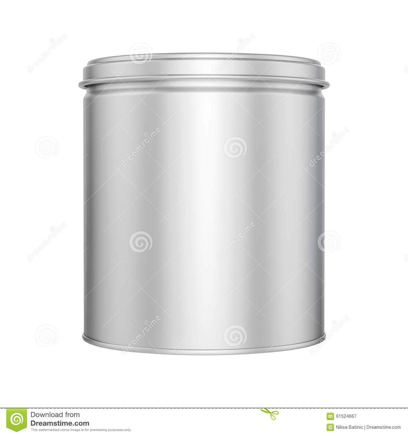 Tin Can With Metal Cap - Mock Up Stock Illustration - Illustration ... for tin can clipart black and white  55nar