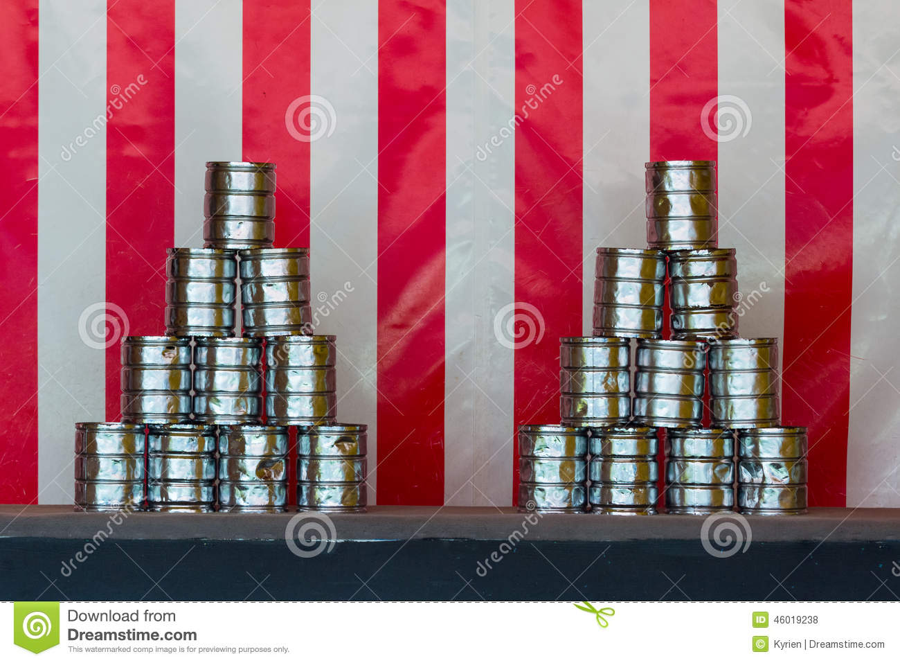 Tin Can Throwing Stock Photo Image Of Circus Shape