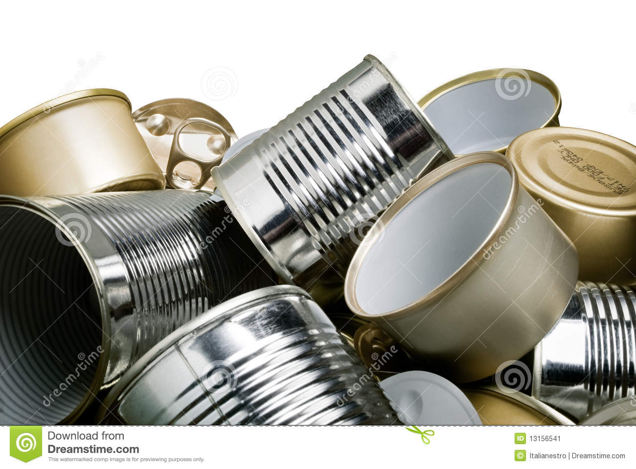 Tin Cans For Recycling Stock Image Image 13156541