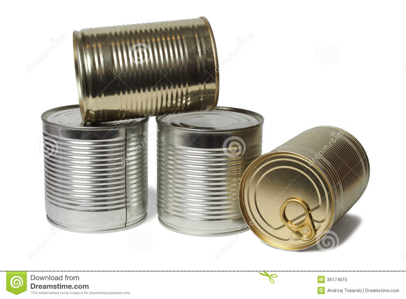 Tin Can Food Containers