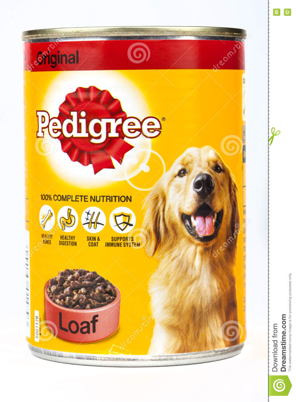 Tin Of Pedigree Dog Food Editorial Photo Image Of Ingredients
