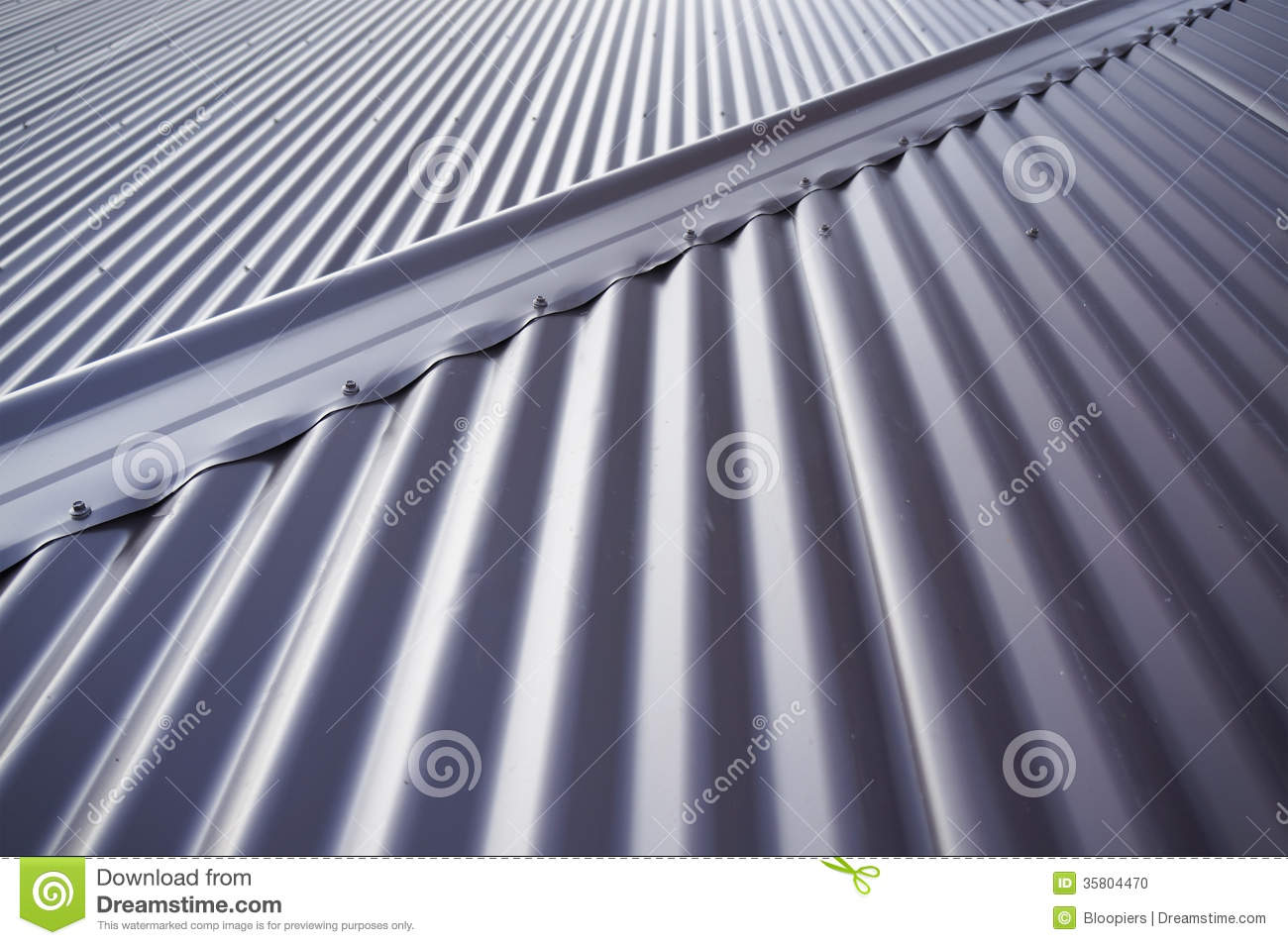 Tin Roof Stock Photo Image 35804470