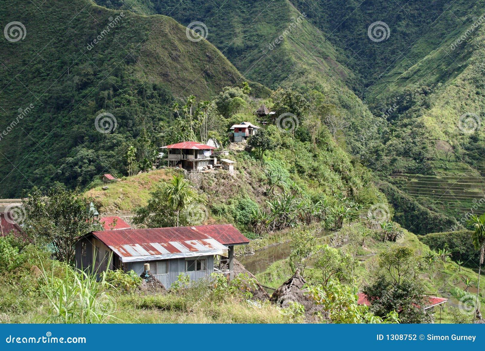 Attractive Tin Roof Rusted Batad Village Philippines
