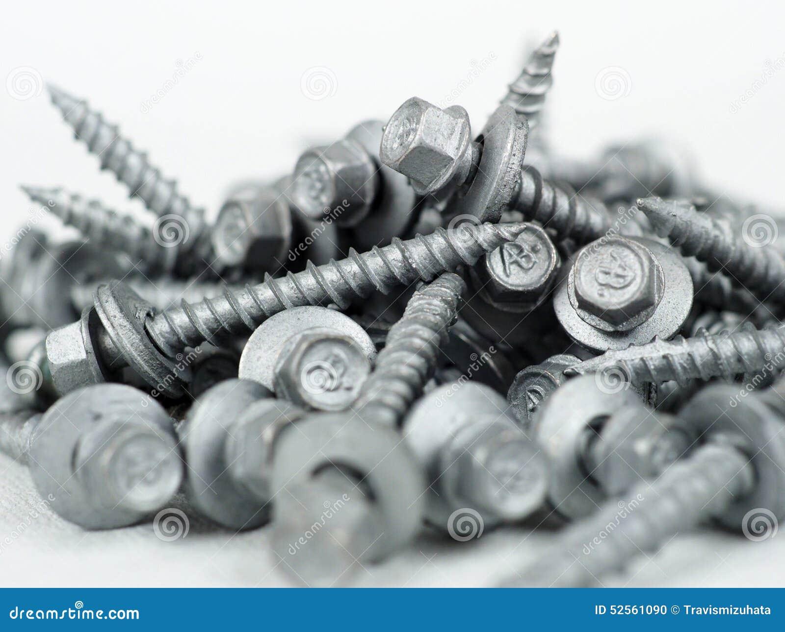 Tin Screws Stock Photo Image Of Metal Roof Drive