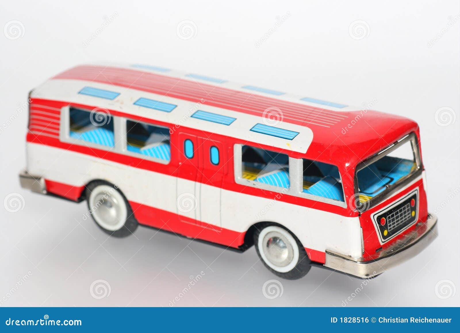 Tin toy bus