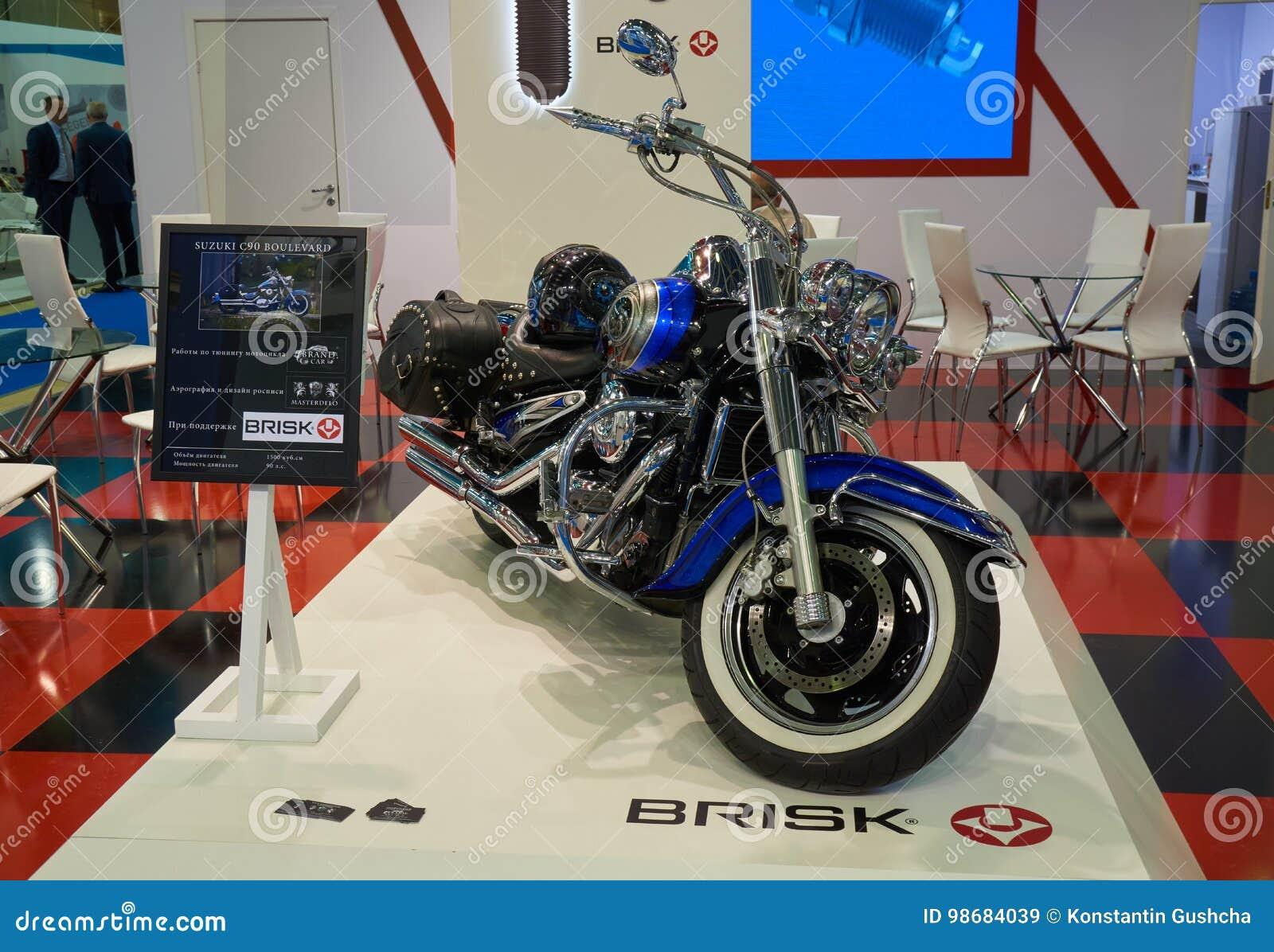 Tuned Suzuki motocycle editorial stock image  Image of contract