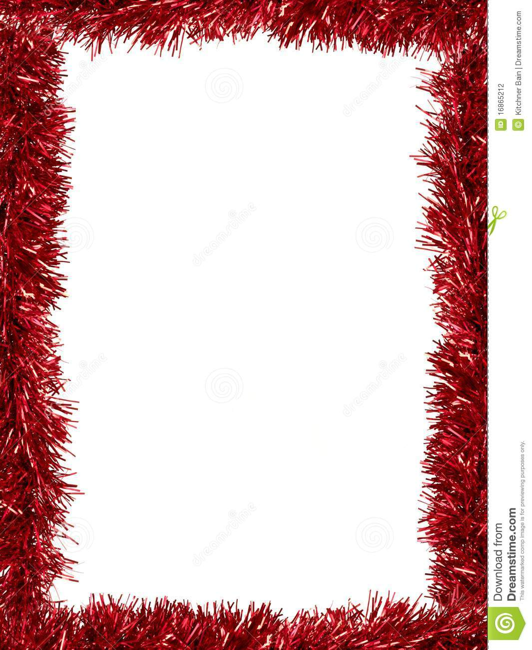 Tinsel Border Stock Photo Image Of Christmas Pattern